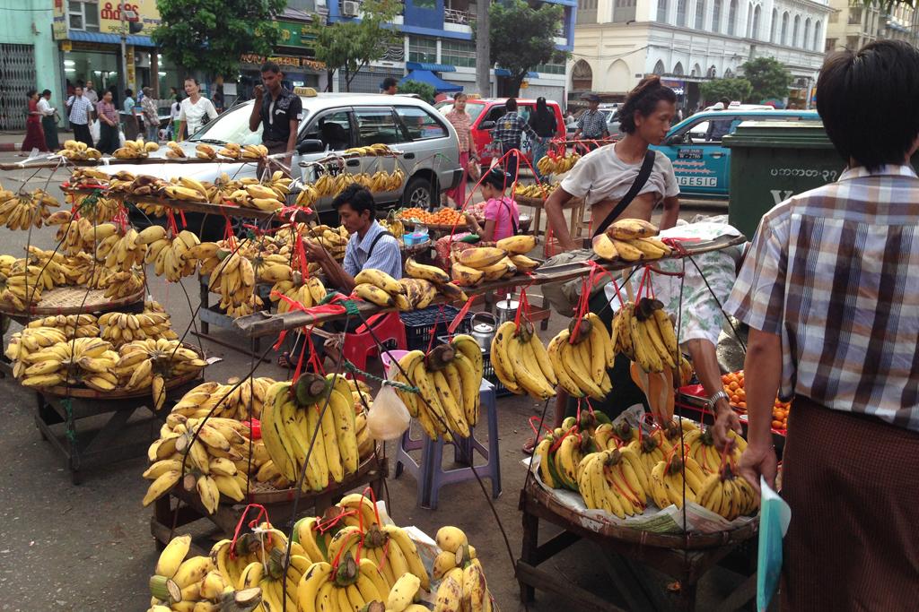 ミャンマーのバナナ