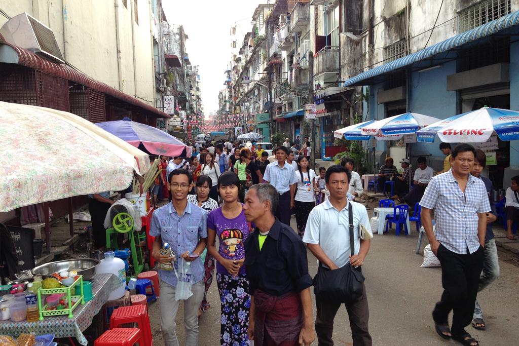 ヤンゴンの原宿