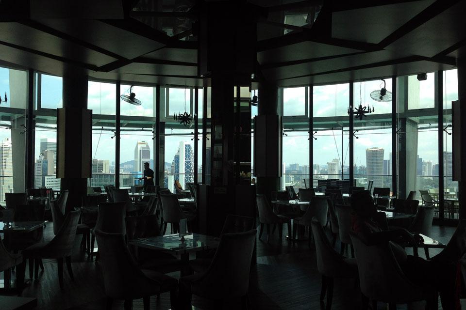 Regalia Residenceの屋上のレストラン