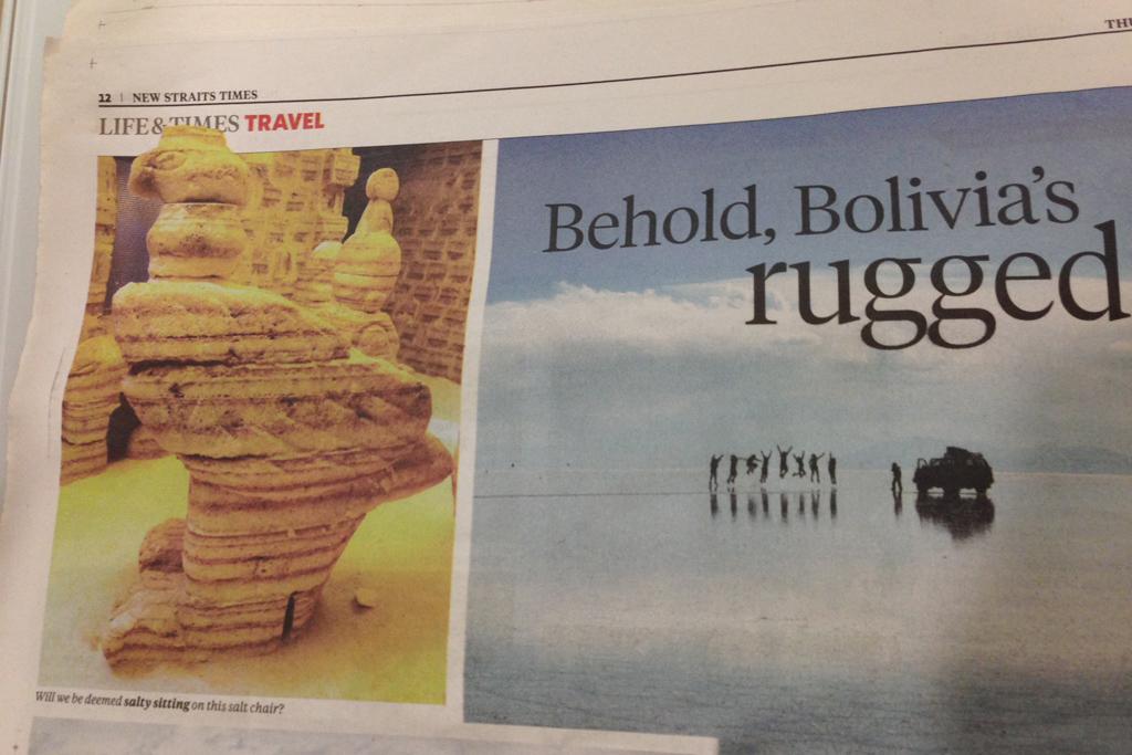 マレーシアのローカル新聞