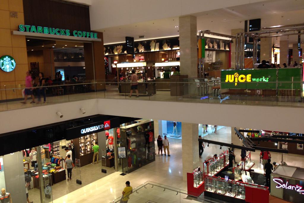 クアラルンプールのショッピングセンターのパビリオン