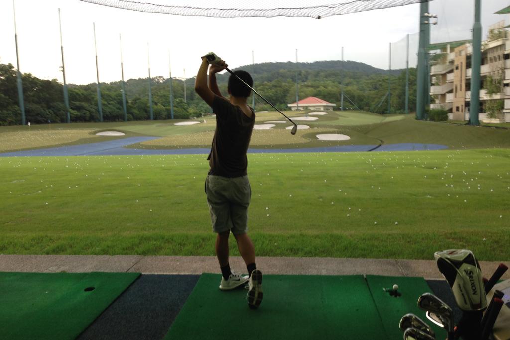 ゴルフの打ちっぱなし