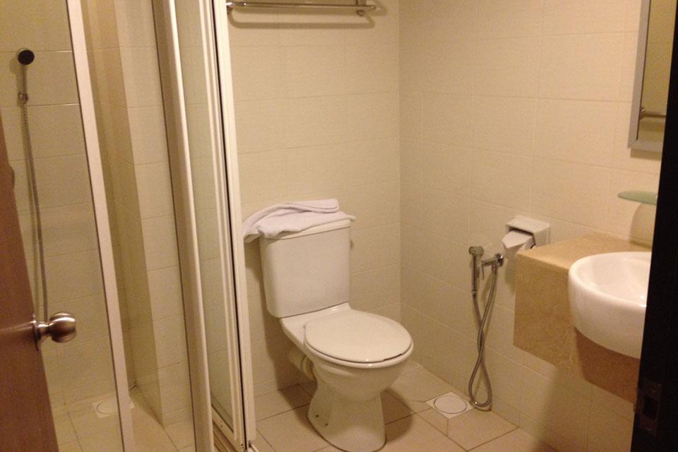 ブキビンタンのSky Express Hotelはトイレもキレイです