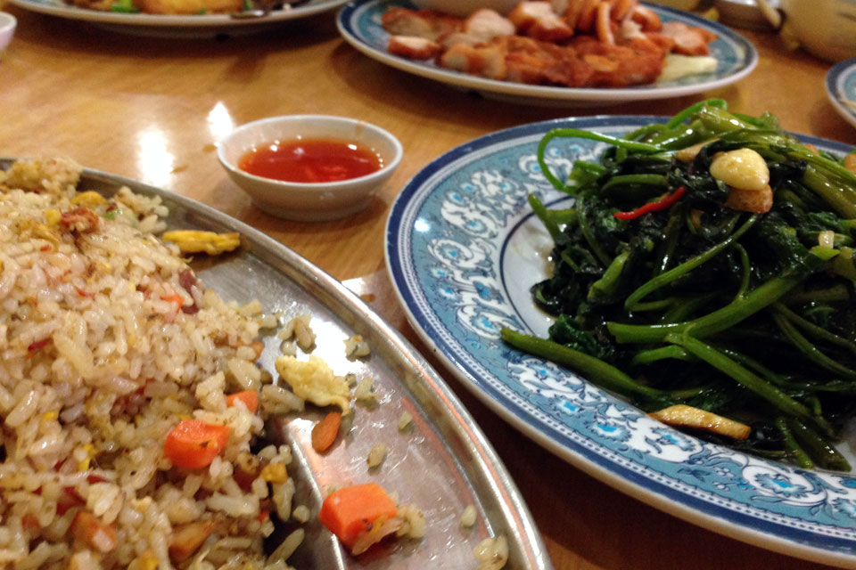 中華料理定番のチャーハンと空心菜も!