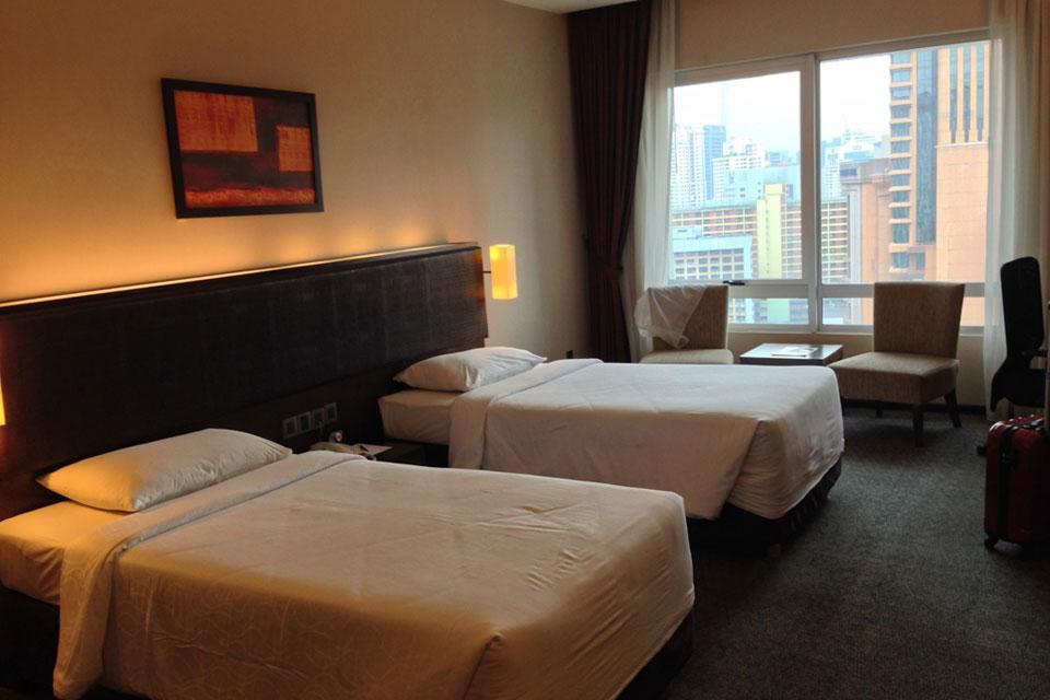 ブキビンタンのフラマホテルの部屋